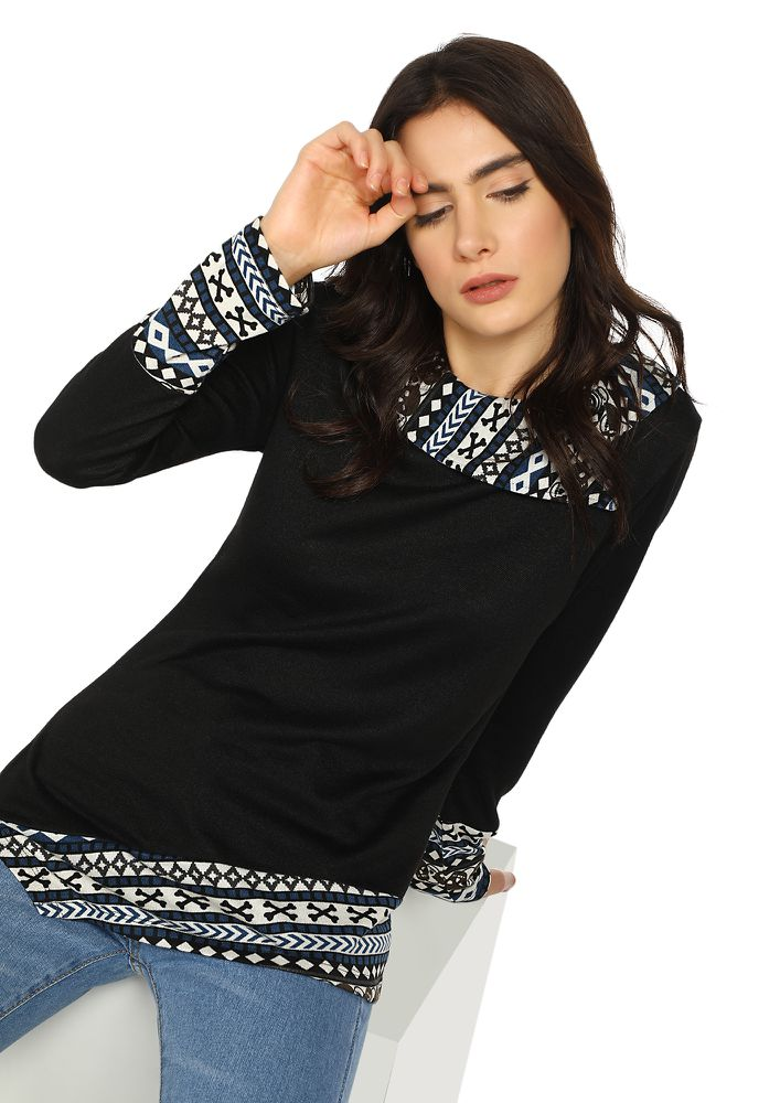 CAN'T OVERTHINK BLACK TUNIC TOP