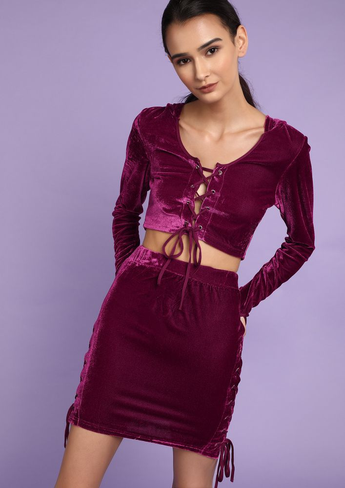 COOL LUXE PURPLE TWO PIECE SET
