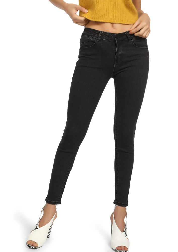 LOOKING FOR YOU BLACK SLIM-FIT JEANS