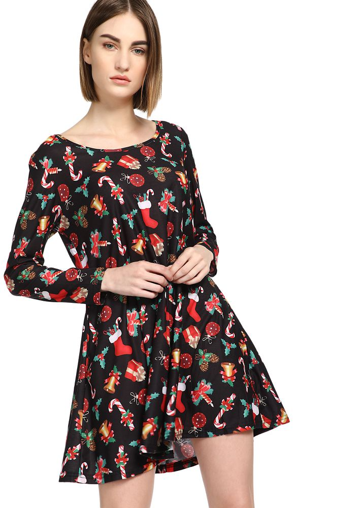 MY FLOWER IN NEED RED SHIFT DRESS