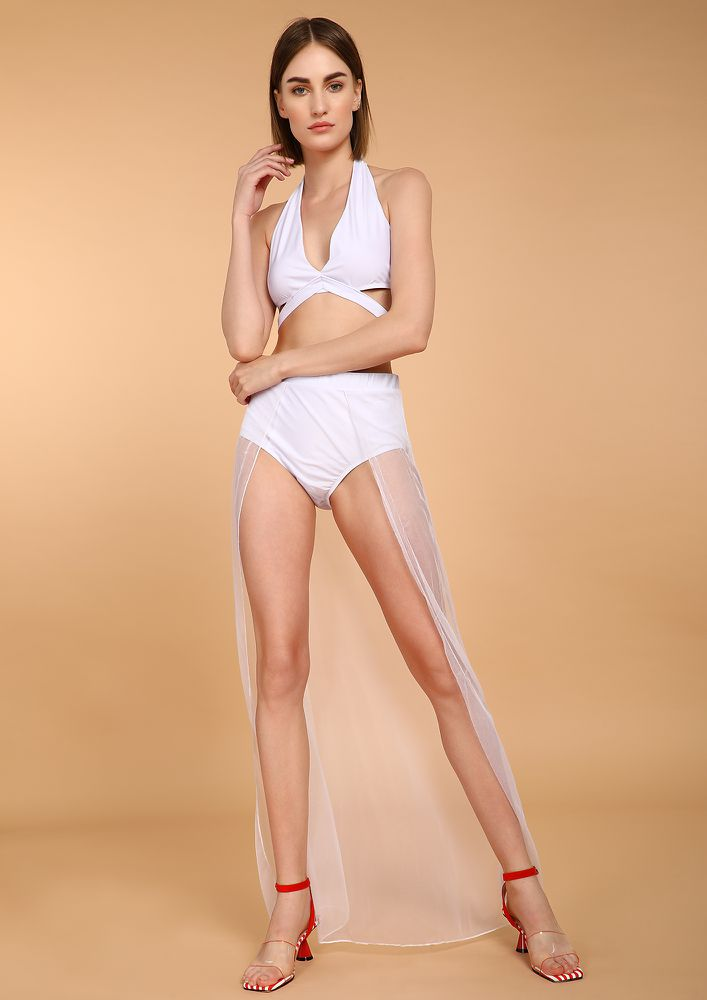 BE A HEARTBREAKER WHITE MONOKINI