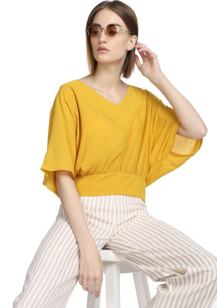 MOOD FOR KIMONO YELLOW TOP