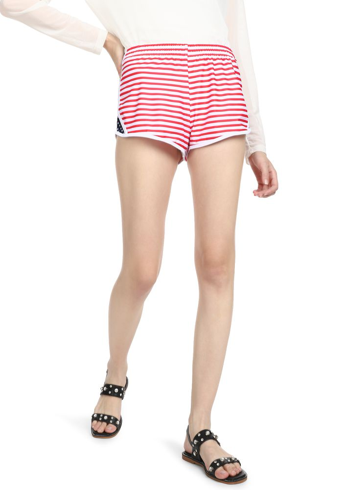 STARS AND STRIPES FOREVER RED SHORTS