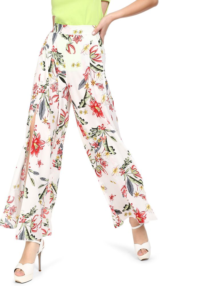 ALL MOST FLOWER READY IVORY PALAZZOS
