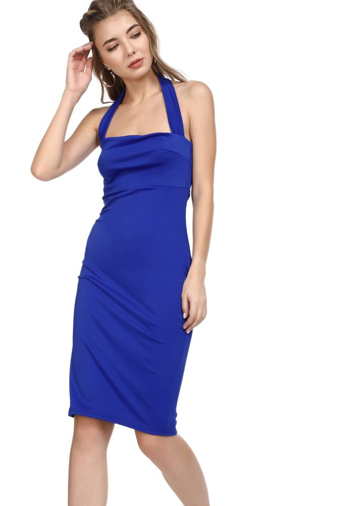 BEST OUT OF ME BLUE BODYCON DRESS