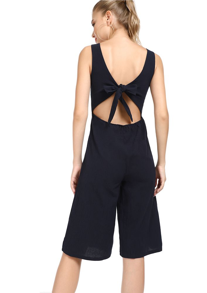 PLEASED TO SEE YOU DARK BLUE JUMPSUIT