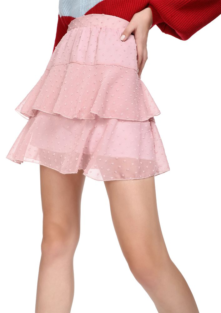 PRETTY LIL THINGS DUSTY PINK SKATER SKIRT
