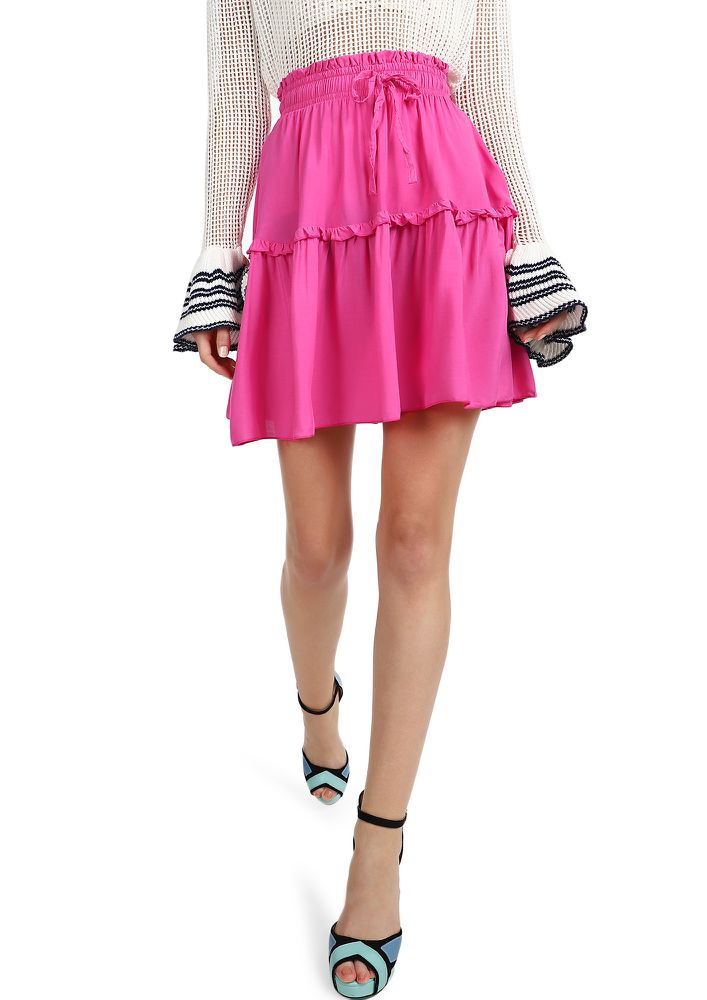 LET YOUR LOVE FLOW  FUSCHIA SKATER SKIRT