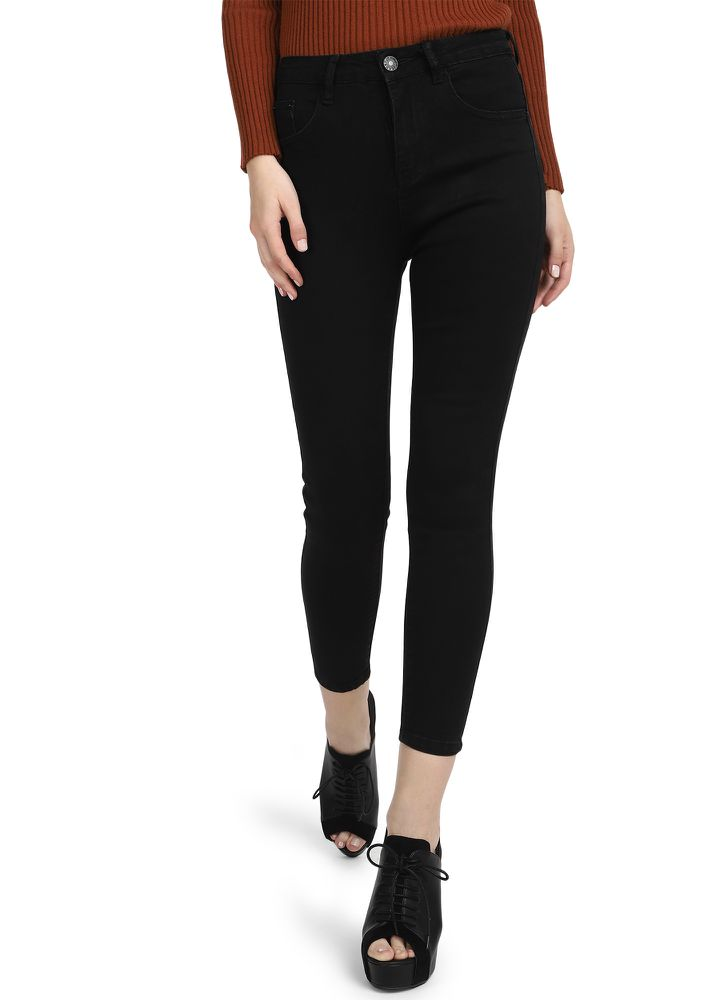 BASIC BEHAVIOUR BLACK SKINNY JEANS