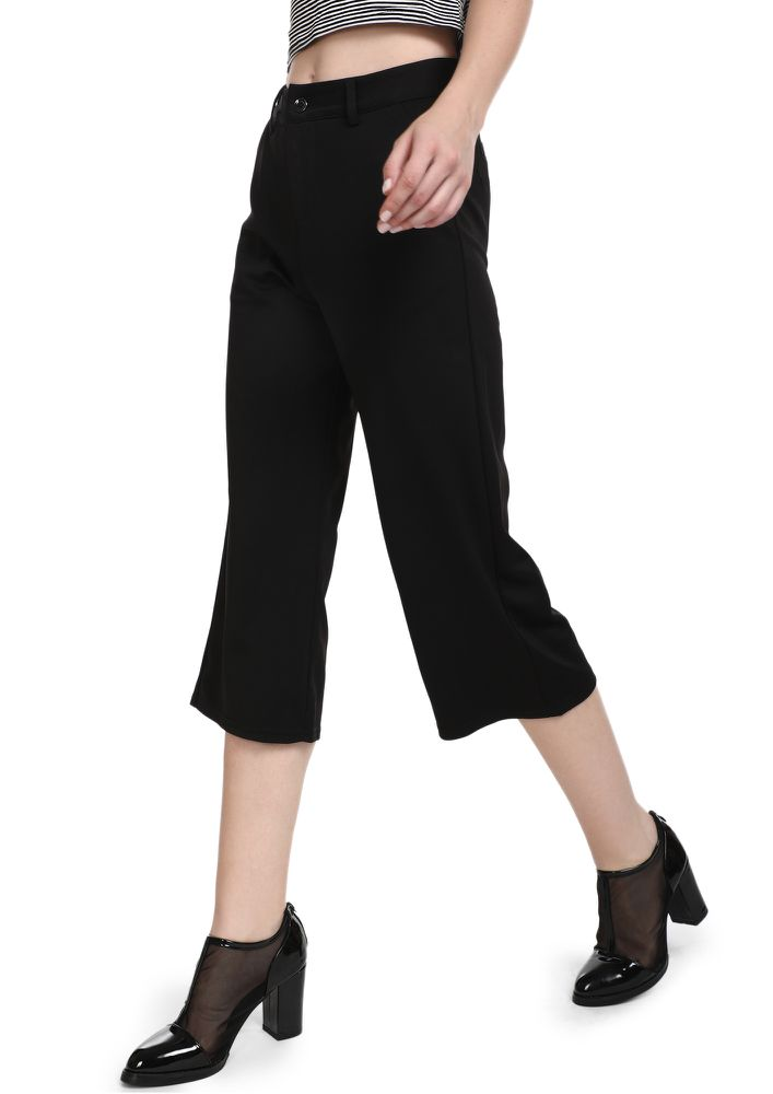 START WITH SOME FLARE BLACK CULOTTES