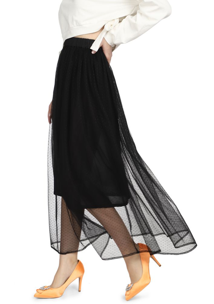 FLOWING WITH THE WIND BLACK MAXI DRESS