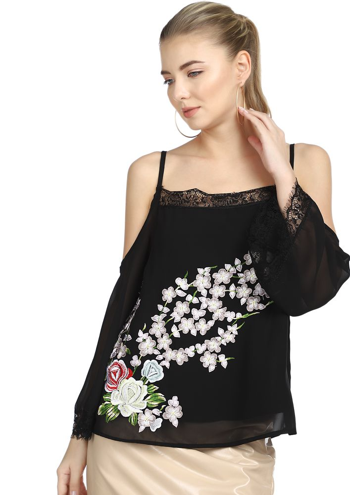 ALL THING FLOWER BLACK TOP