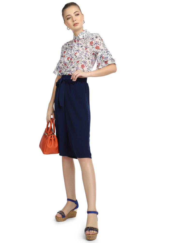 ON A BREAK DARK BLUE CULOTTES