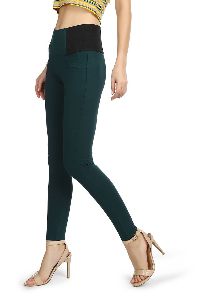 STRAIGHT TO THE LOUNGE TEAL LEGGINGS