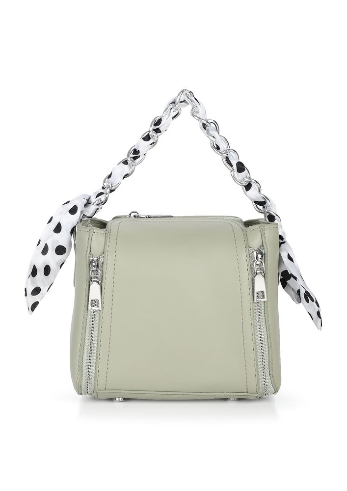 GOING DOTS OVER YOU GREEN SLING BAG