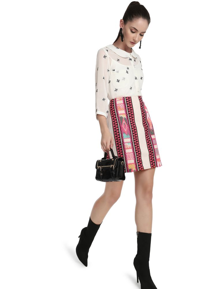 COLORFUL IS MY LIFE MULTICOLOR PENCIL SKIRT