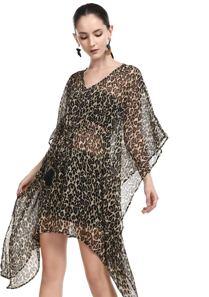 SEA SAND SUNSET BROWN COVER UP
