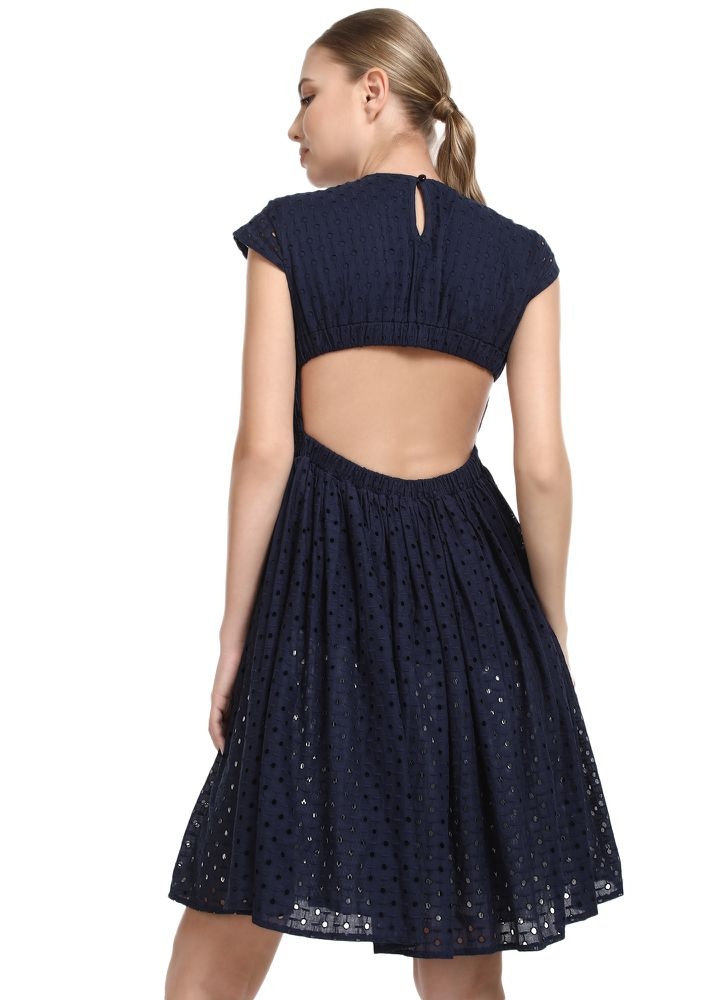 Match My Perfection Blue Skater Dress