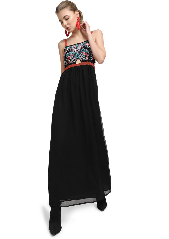 SUCH A SWEET LOVER BLACK MAXI  DRESS
