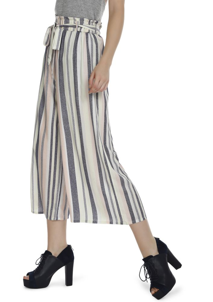 FOLLOW THE PATTERNS WHITE CULOTTES