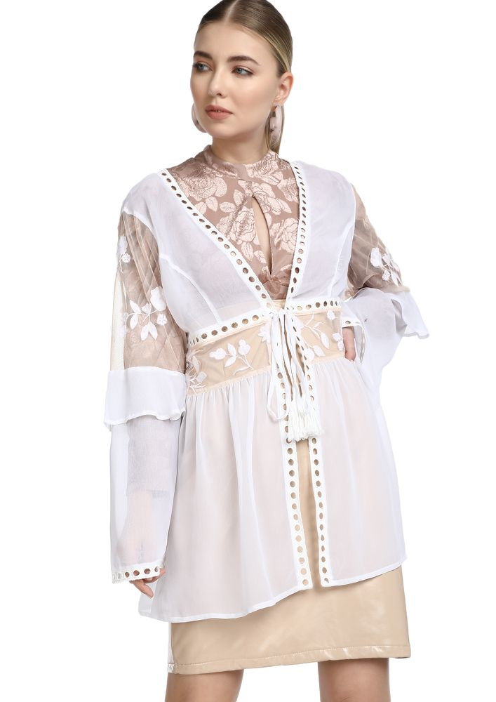 PERFECT WEEKEND VIBE WHITE COVER UP