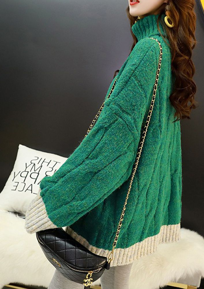 HOP ON TO THE POP SHADES GREEN CARDIGAN