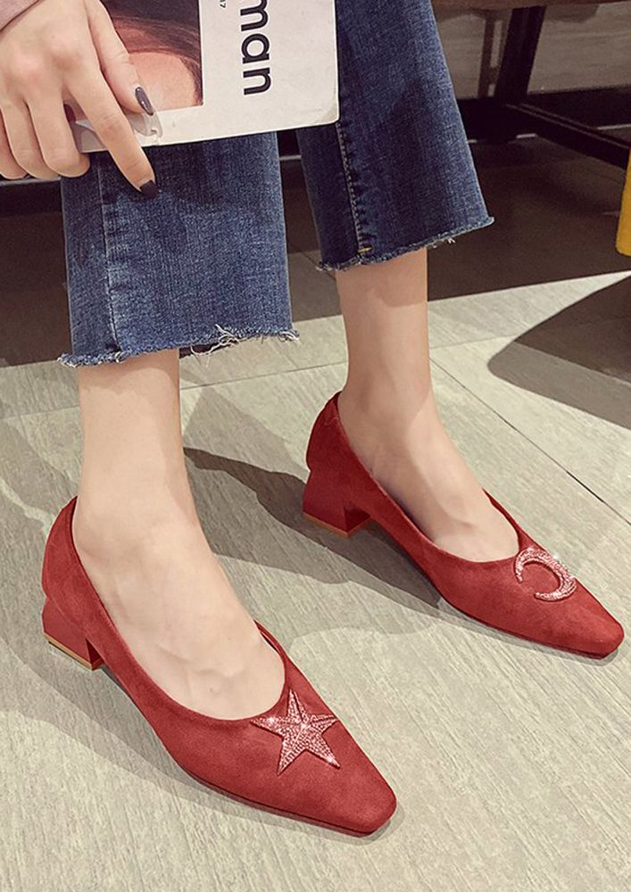 AN ELEGANT CALL RED HEELED SANDALS