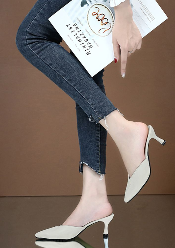 LIKE THE ROYALTY BEIGE HEELED SANDALS