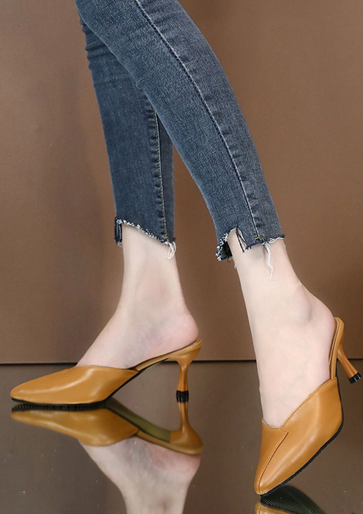 LIKE THE ROYALTY BROWN HEELED SANDALS