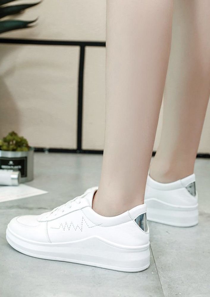 HEAVY ON IMPRESSION SILVER TRAINERS