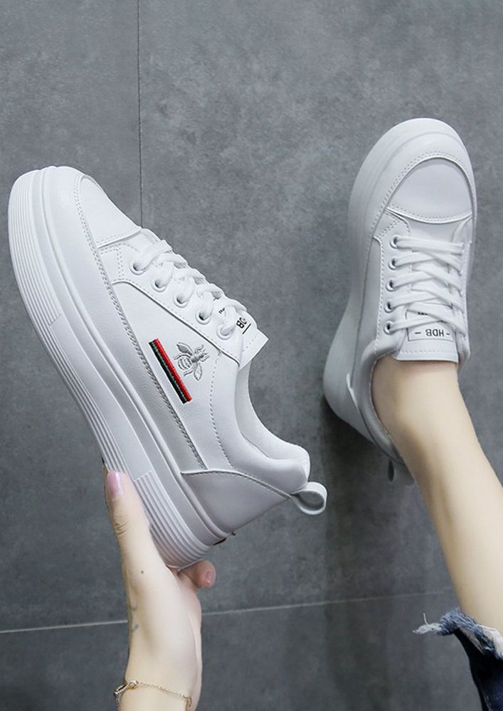 FASTER THAN LIGHT SILVER TRAINERS