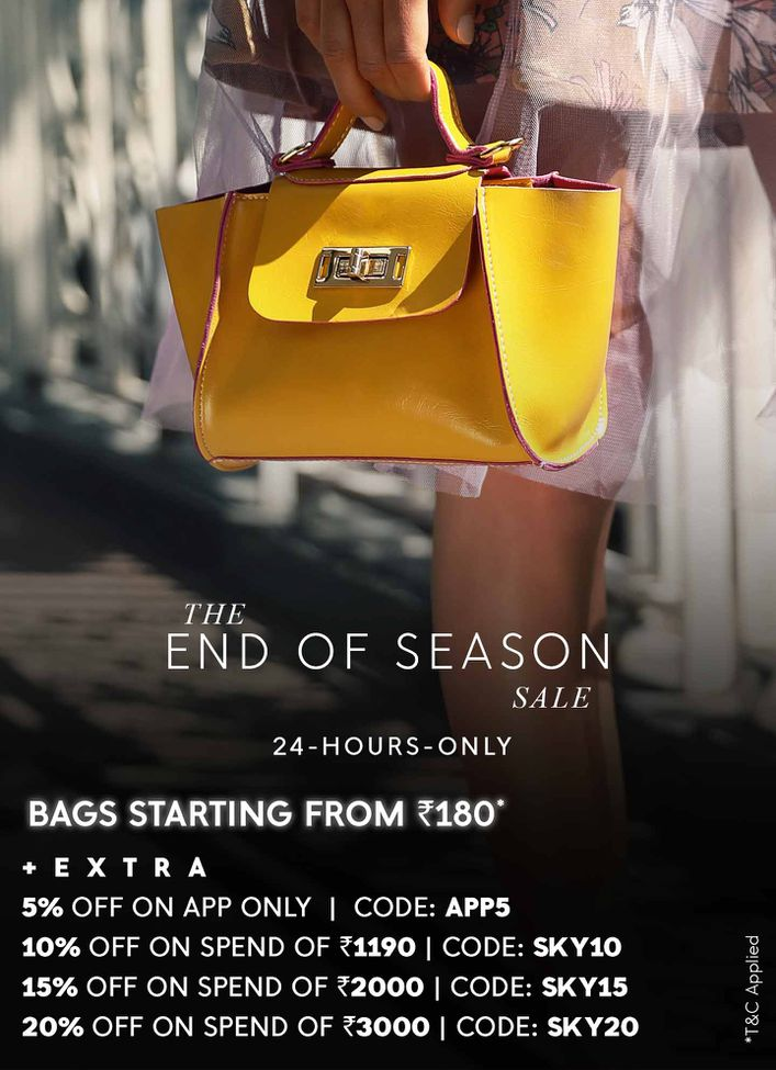 UPTO 90%  OFF ON BAGS